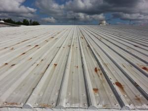 Leaking Rusted Metal Roof